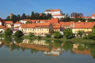 River Drava before historic Ptuj